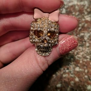 Betsey Johnson Skull Bow Ring ☠️🎀